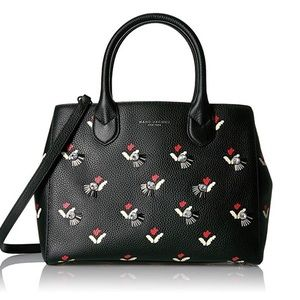 MARC JACOBS leather tulip GOTHAM TOTE